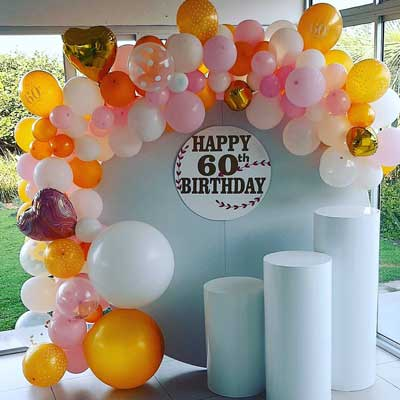 backdrop and balloon styling